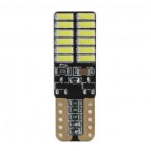 Светодиодная лампочка T10 (W5W) 12-24В - 2шт