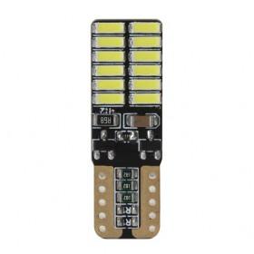 Светодиодная лампочка переднего габарита T10 (W5W) 12-24В